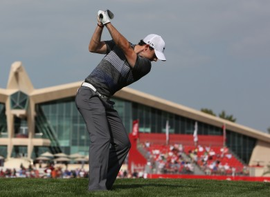 McIlroy: will play with Pablo Larrazabal (also -9) and Miguel Angel Jiminez (-8) in the penultimate group tomorrow.