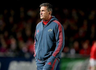 Munster head coach Rob Penney.