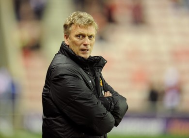 David Moyes on the touchline before kick-off.