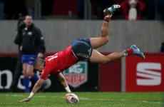 Simon Zebo shifts to fullback in Munster team for Scarlets challenge