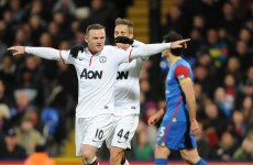 Wayne Rooney celebrates new contract by scoring as United beat Palace