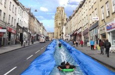 Artist plans to turn UK street into massive water slide for a day