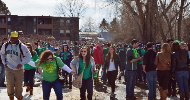 Riot squad arrest 73 at pre-St Patrick's Day 'Blarney Blowout' at US college