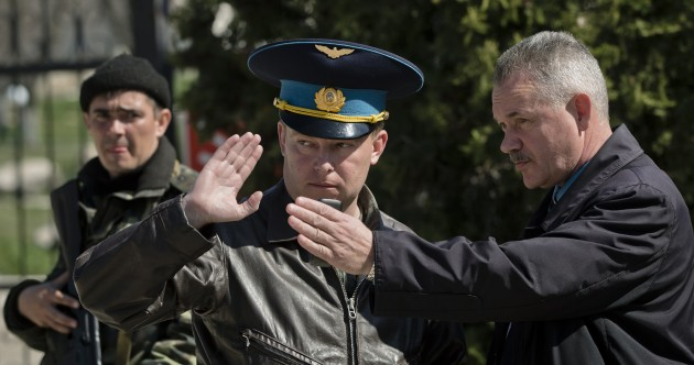 "Ukraine calls for release of ""abducted"" commander whose base was stormed yesterday"