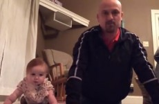 Dad and baby daughter create the cutest 'workout video' around