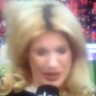 German sideline reporter hit on the head by football… again