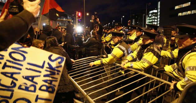 Pics: Gardaí injured in clashes with protesters at European People's Party congress