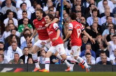 This Rosicky thunderbolt inspired Arsenal to victory against Spurs today