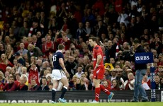 GIF: Dirty Hogg sent off for late shoulder on Dan Biggar