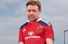 Russell Crowe reveals he's a Munster rugby fan