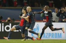 Pastore strike puts PSG in control against Chelsea