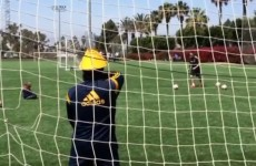 VINE: Robbie Keane's LA Galaxy training looks like bags of fun
