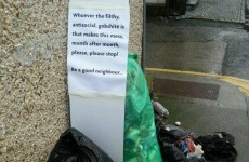 This is the note we all want to leave to our rubbish-dumping neighbours