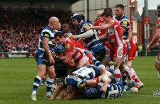 VIDEO: Gloucester v Bath descended into an all-out brawl