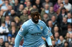 Yaya Toure: African heritage counts against me