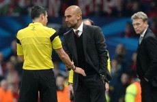 Guardiola left frustrated by officiating following United-Bayern draw