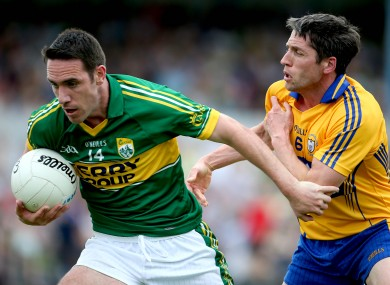 Clare's Gordon Kelly and Declan O'Sullivan of Kerry.
