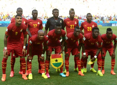 Ghana are currently competing at the World Cup.