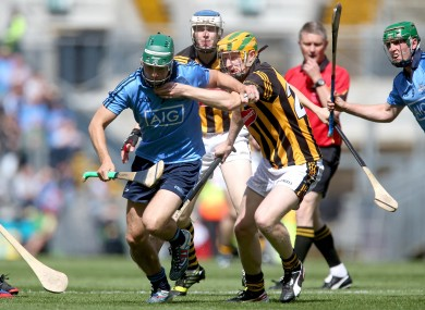 Dublin's Michael Carton and John Power of Kilkenny.